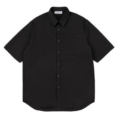 CB 빅 포켓 하프 셔츠 (블랙)