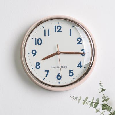 오리엔트 OT884RG 무소음 로즈골드 인테리어벽시계