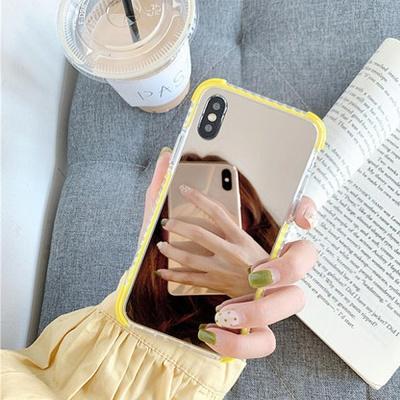 아이폰 메이크업 미러 실리콘 범퍼 TPU 휴대폰 케이스