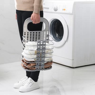 PH 접이식 벽걸이 부착형 세탁 빨래바구니 소형