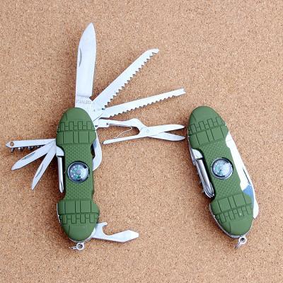 (와인앤쿡)실속형12종 나침반 휴대용 맥가이버칼1개