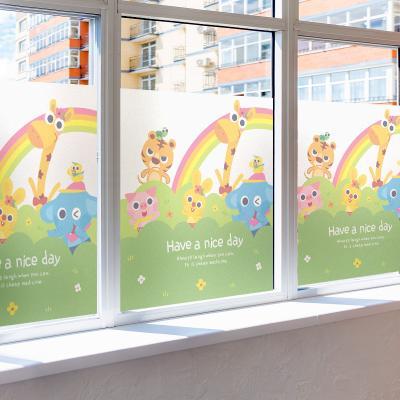 창문 유리창시트지 칼라 안개시트지 플라비와친구들01