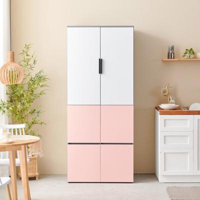 C3393 광폭 냉장고형 6도어 수납장 800 6colors