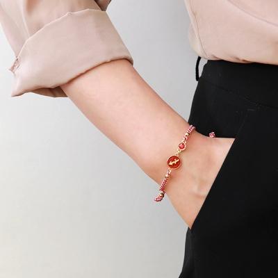 [선물포장] 스트라이프 탄생석 + 별자리 매듭 팔찌