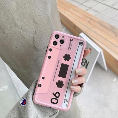 아이폰11 promax xr xs 레드로 핑크테이프 젤리케이스