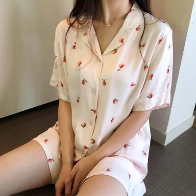 시원한 레이온 애플 여름 잠옷 파자마 세트