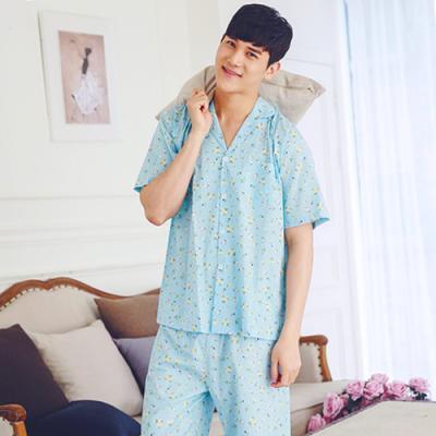 [쿠비카]러블리 화이트 플라워 60수 면 남성잠옷 M005