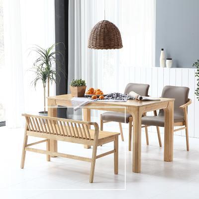 휴치 고무나무 원목 식탁 벤치의자 2인용