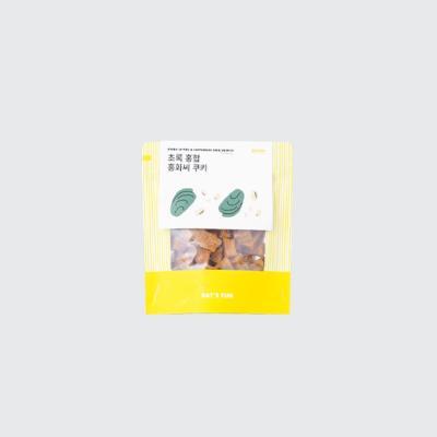 [베이컨] 초록 홍합 홍화씨 쿠키