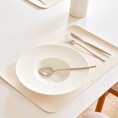 모던 사각형 북유럽 가죽 식탁매트 테이블매트