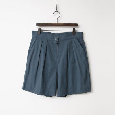 Linen Pintuck Shorts