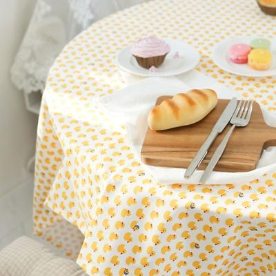아기오리 면 식탁보 테이블보 덮개