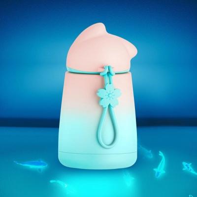 고양이 그라데이션 미니 텀블러 커플 보온컵 300ml