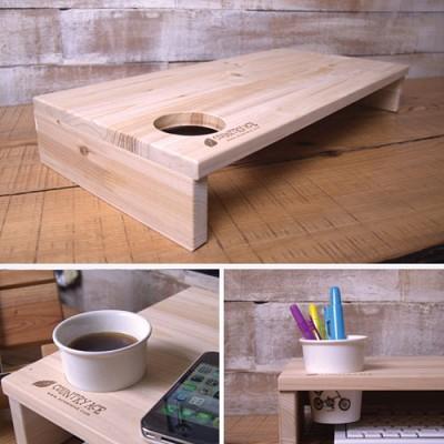 삼나무 커피 모니터 선반/받침대