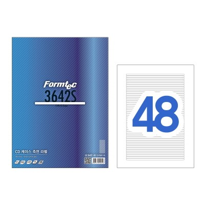 폼텍 CD 케이스 측면 라벨/LQ-3642S