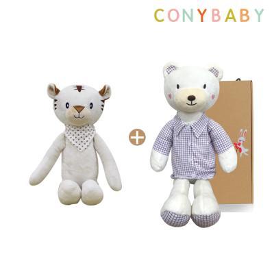 [CONY]애착인형2종세트(셔츠베베60+아기백호랑이)