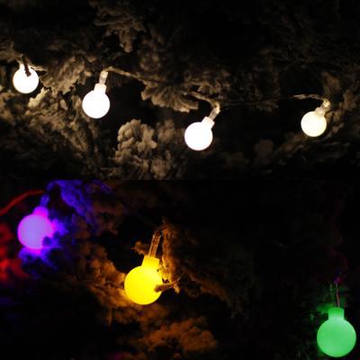 LED 30P 구슬 전구 (밧데리) - 3color