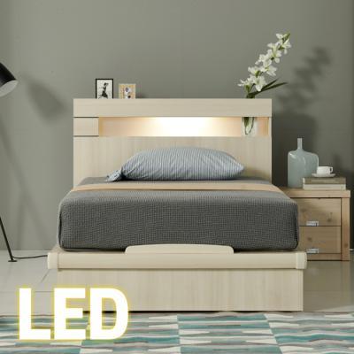 LED조명+콘센트 침대 SS (양면매트) 65t평상 KC182