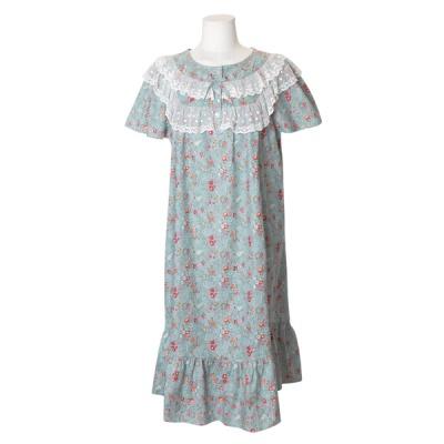 [쿠비카]멜로 플라워 망사레이스 롱 원피스 잠옷 W606