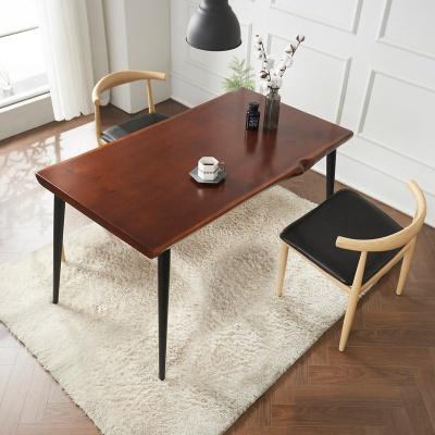 브리엔 원목 철제 식탁 세트B 1400 + 의자 2개포함