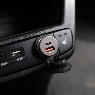 [무아스] 36W PD 듀얼 차량용 고속 충전기 시거잭