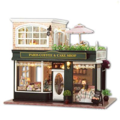 [adico]DIY미니어처 풀하우스 - 파리 커피 케익샵