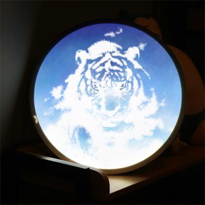 nh153-LED액자45R_풍수하늘빛호랑이