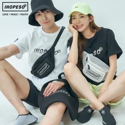aileen 라이트 메쉬 힙색 가방 캐주얼가방 학생가방
