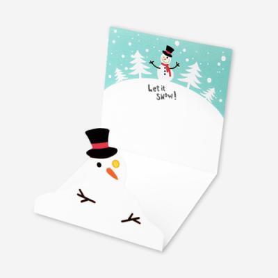 렛잇스노우 눈사람 카드