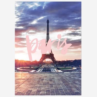 Paris 파리 핑크텍스트 포스터 - A2 A3 A4