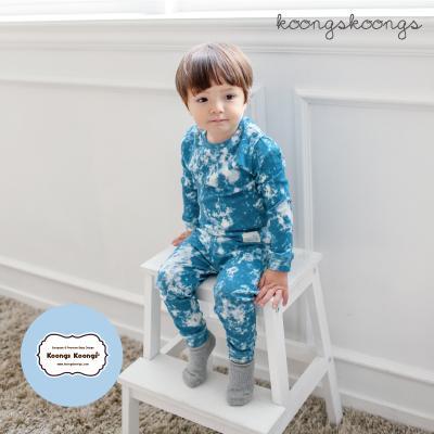 [긴팔실내복]스노우블루실내복 유아실내복 아동실내복