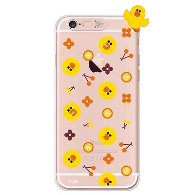 [SG DESIGN]iPhone6/ iPhone6 Plus 라인프렌즈 샐리 PATTERN LIGHT UP Case-Rose Gold(하드타입/라이팅)
