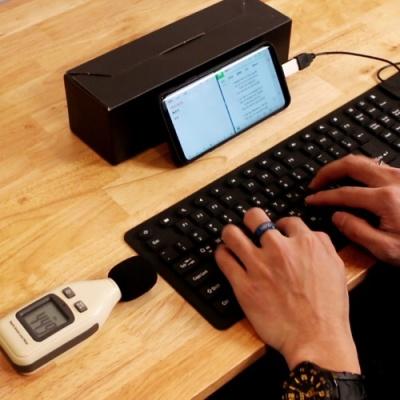 [갓샵 무소음! No데시벨! 실리콘 키보드] 조용한 소리안나는 몰컴 독서실 Keyboard