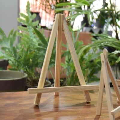 화분 데코레이션용 우드 이젤 (중) 18x23cm