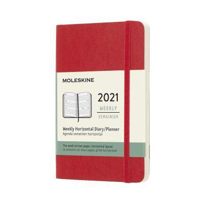 몰스킨 2021위클리(가로형)/스칼렛레드 소프트 P