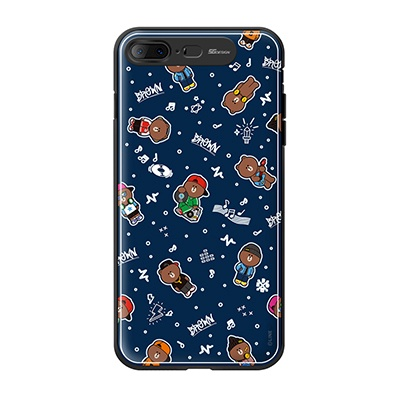 iPhone7 8 Plus LINE FRIENDS BROWN PATTERN-AS Light
