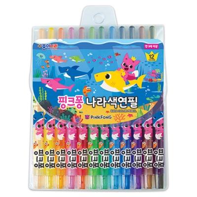 핑크퐁 12색 나라색연필C4674