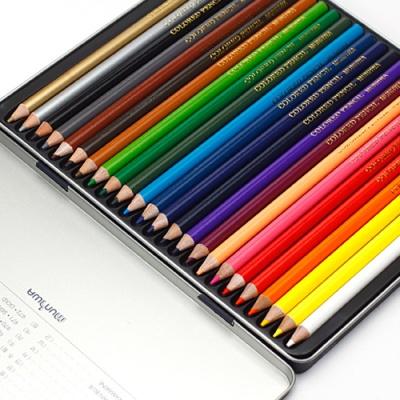문화 24색 고급 색연필(틴)