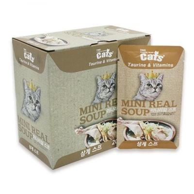 고양이 습식 파우치 리얼 삼계 스프 40g 닭가슴살