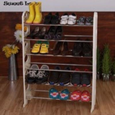 좁은 현관신발장 신발수납 정리대 오픈 신발장 6단