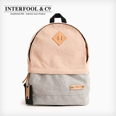 INTERFOOL - Half Two Tone Day Bag (Orange-Grey)