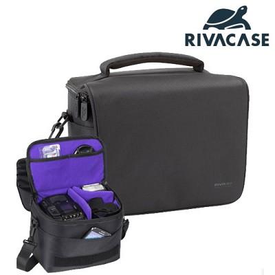 SLR 카메라 가방 RIVACASE 7303 (분리형 패딩 칸막이 / 추가 렌즈 & 스트로보 & 액세서리 수납 공간)