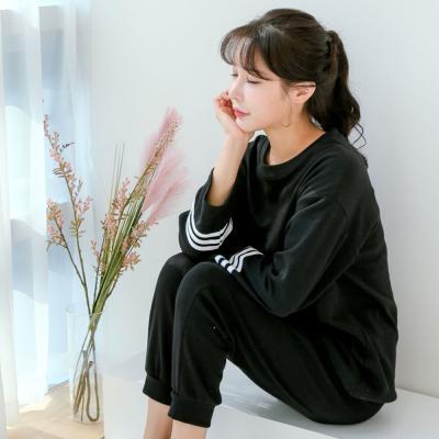 메리핀 무지 삼선 트레이닝 잠옷세트 3종