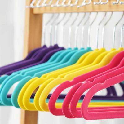Velvet Non Slip 옷걸이 유아용 20P 4color CH1577354