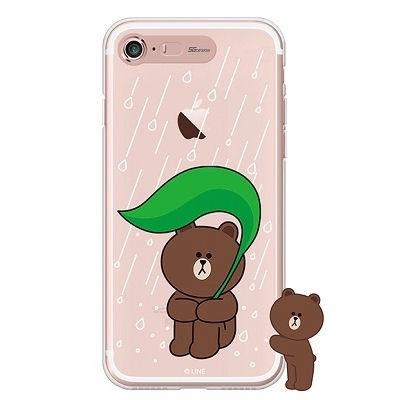 [SG DESIGN] iPHONE78 라인프렌즈 브라운 RAIN LIGHT