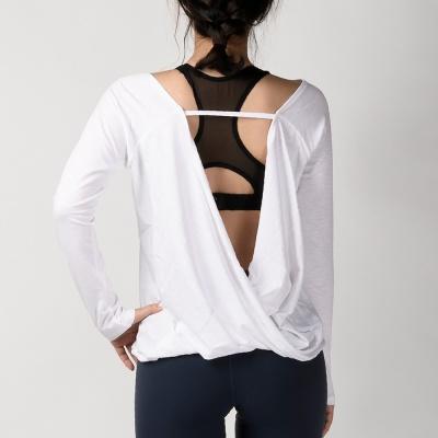 모달 슬러브 드레이프 커버 티셔츠 DFW5012 화이트