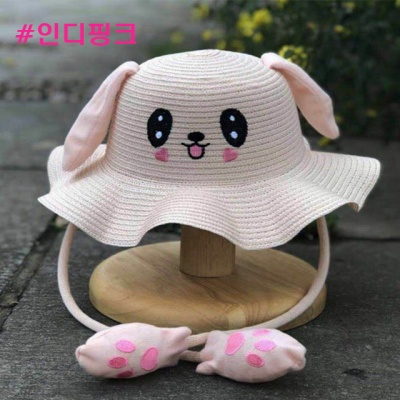 너블리 움직이는 토끼모자 여름 귀달이 모자