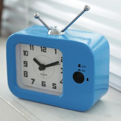 TV 칼라 탁상시계(블루)
