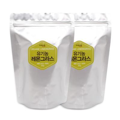 차예마을 허브차 유기농 레몬그라스 50g 리필 x 2팩