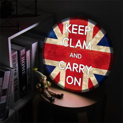 ne578-LED액자35R_Keep Clam and Carry On